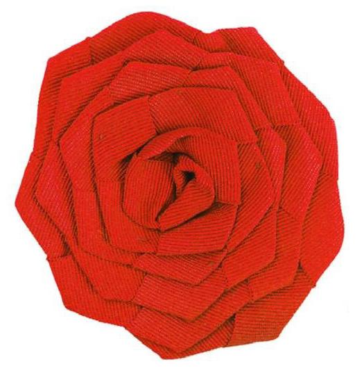 Цветок из репсовой ленты