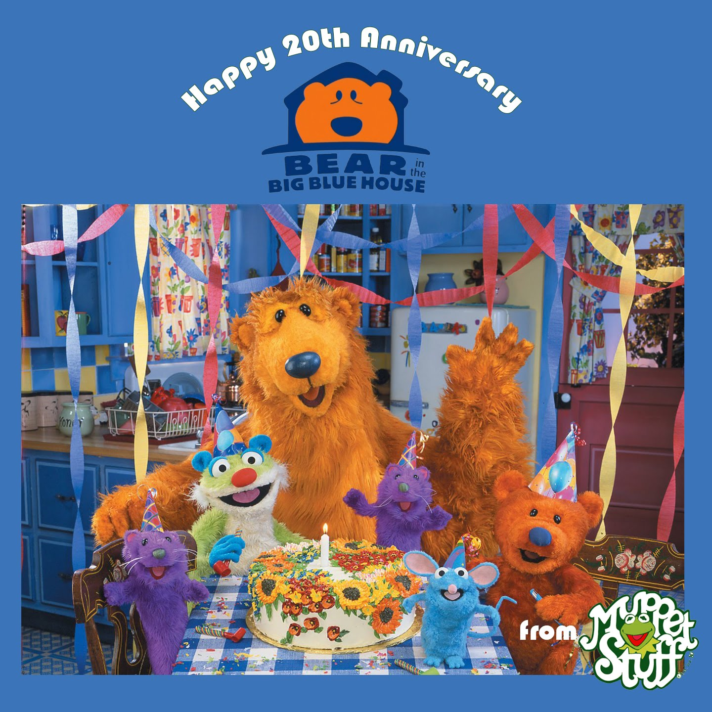 last week bear in the big blue house celebrated its 20th anniversary - Big Blue House