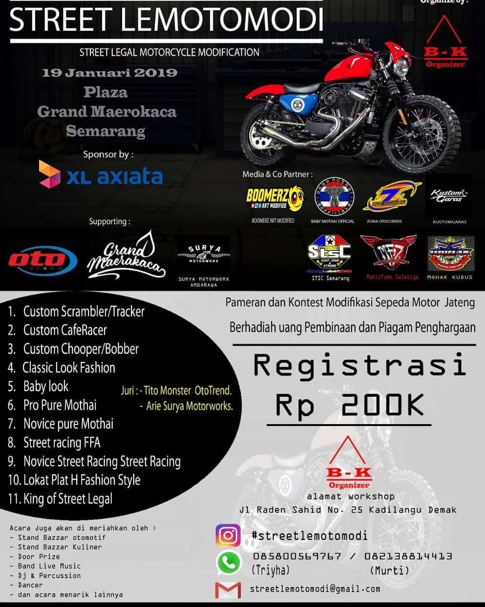 Street Legal Motorcycle Modification Contest