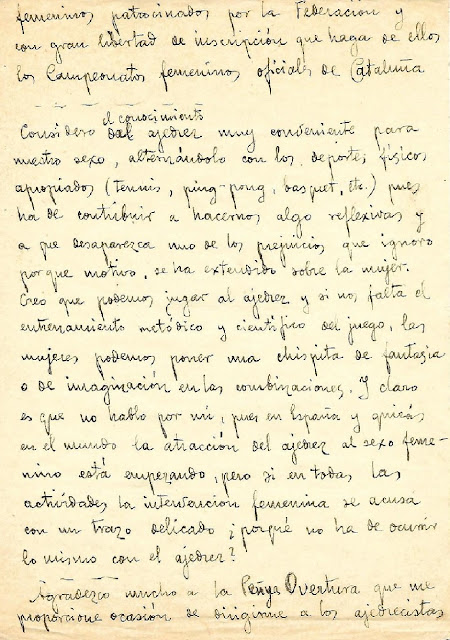 "Segunda página de dicho manuscrito ""misterioso"" de Gloria Velat"