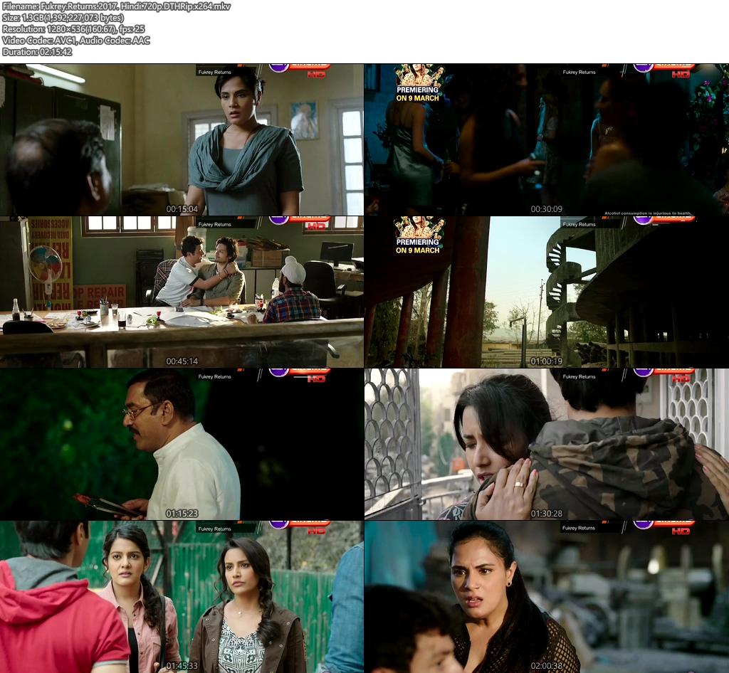 Fukrey Returns 2017 Hindi 720p DTHRip | 400MB 480p | 200MB HEVC Screenshot