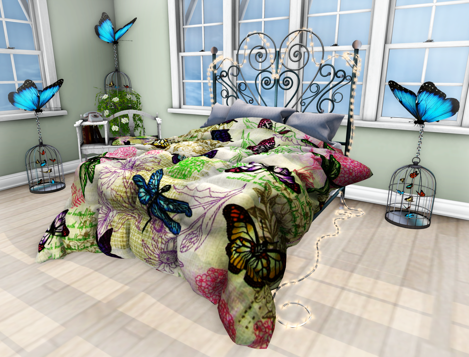 Laura S Lair Butterfly Bedroom Set By Otb