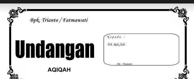 Download Doc Undangan Aqiqoh Lengkap Tutoriurl Online