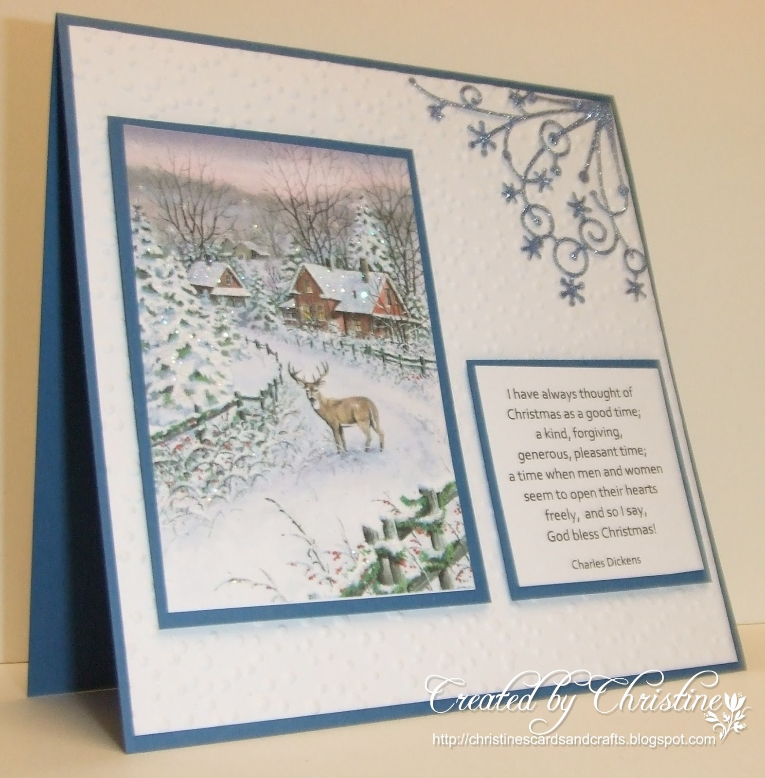 Christines Cards And Crafts Oh Deer