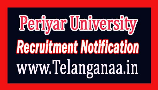 Periyar University Recruitment Notification 2017