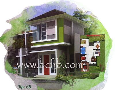 Rumah murah 2 lantai type 68 di batam