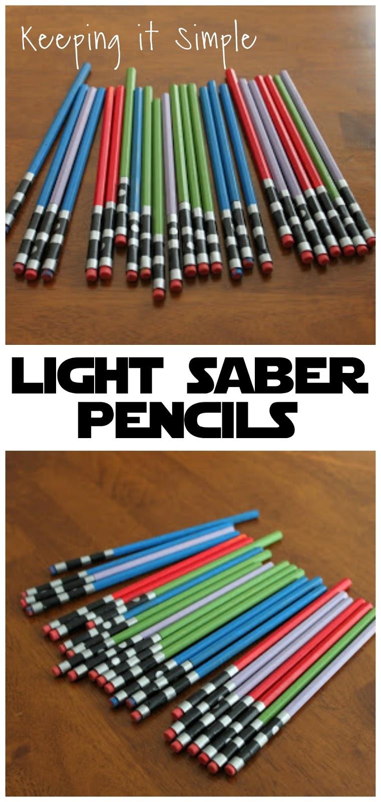 keeping it simple star wars light saber pencils. Black Bedroom Furniture Sets. Home Design Ideas