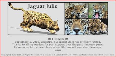 jaguarjulie retirement september 2016