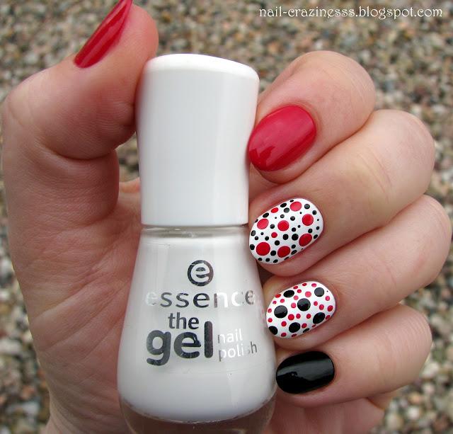 white nail polish, biały lakier