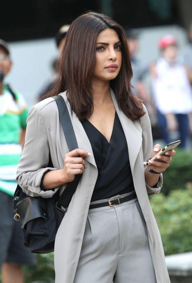 Priyanka Chopra Smiling Face Stills In Black Top