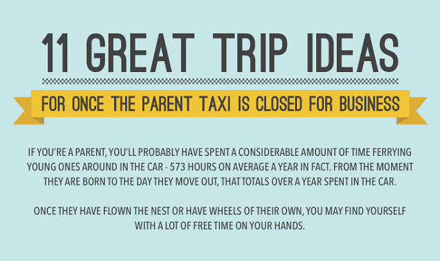 11 Great Trip Ideas: For Once Parent Taxi Is Closed For Business
