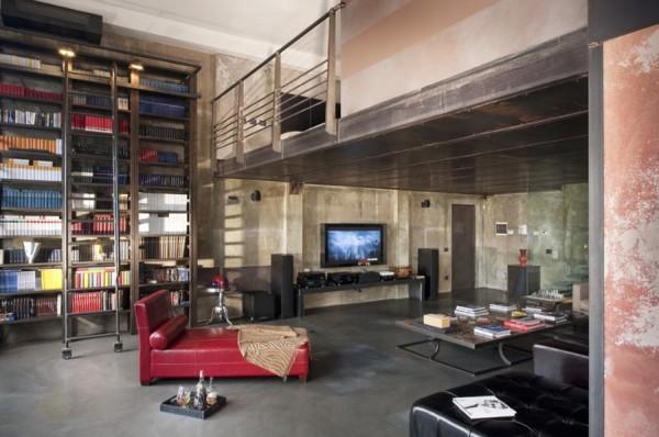 um loft moderno em mil o design innova. Black Bedroom Furniture Sets. Home Design Ideas