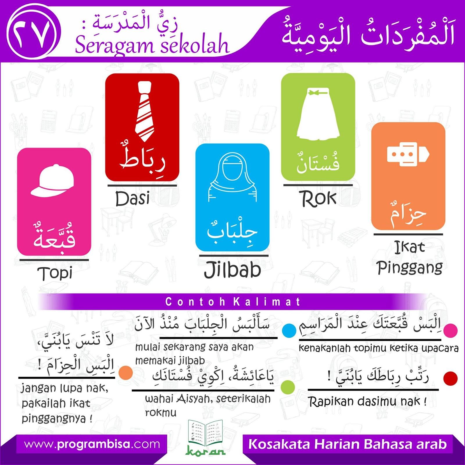 50 Kosakata Bahasa Arab Tentang Peralatan Sekolah Dan Kelas Ilmu