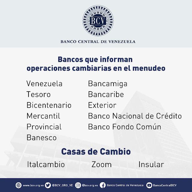 Al menos 11 bancos podrán operar en las mesas de cambio