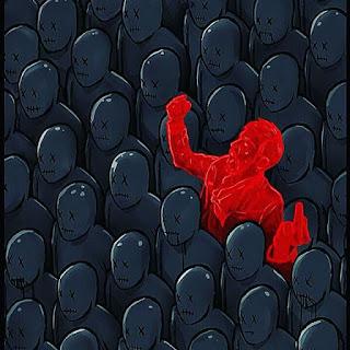 odd red human