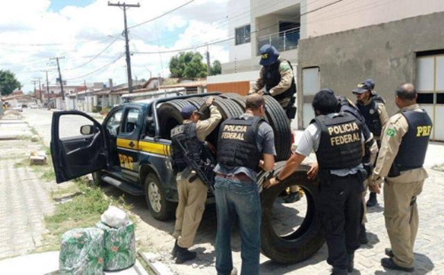 PF e PRF desarticulam quadrilha de roubo de pneus na Bahia