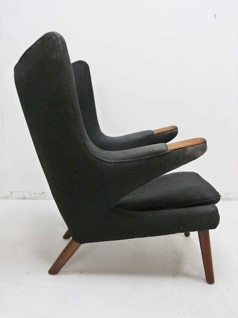 Hans J. Wegner AP-19 Papa Bear Chair & Ottoman by AP Stolen, Denmark 4
