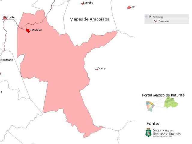 Mapas de Aracoiaba - Ferrovia