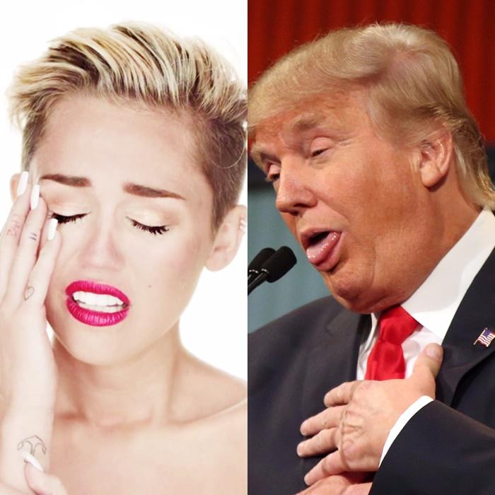Miley Cyrus dejará EEUU si Donald Trump se convierte en Presidente.