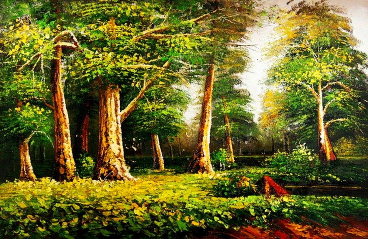 Cuadros, Pinturas, Arte: Cuadros: Paisajes Naturales Al óleo