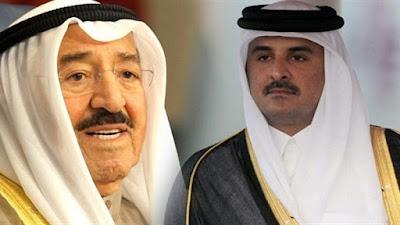 امير قطر وامير الكويت