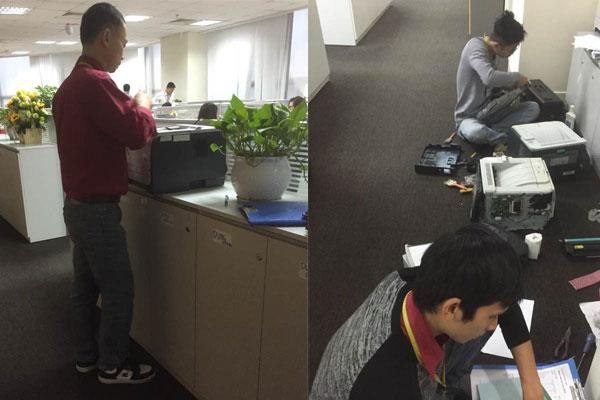 Đổ mực máy in laser màu HP ở đâu tốt tại Hà Nội ? Sua-chua-may-in