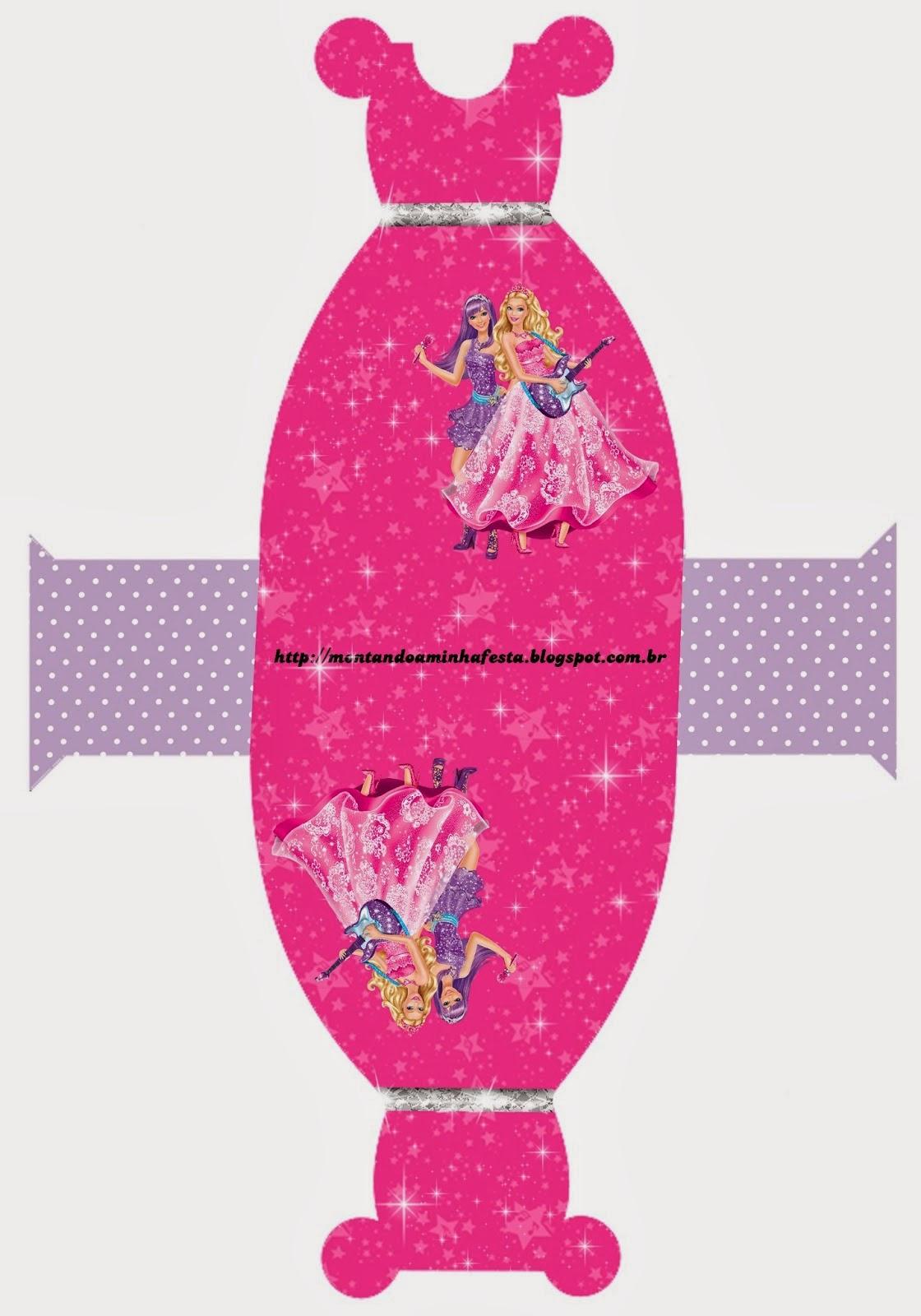 Fiestas de Barbie: Cajas para Imprimir Gratis. | Ideas y material ...
