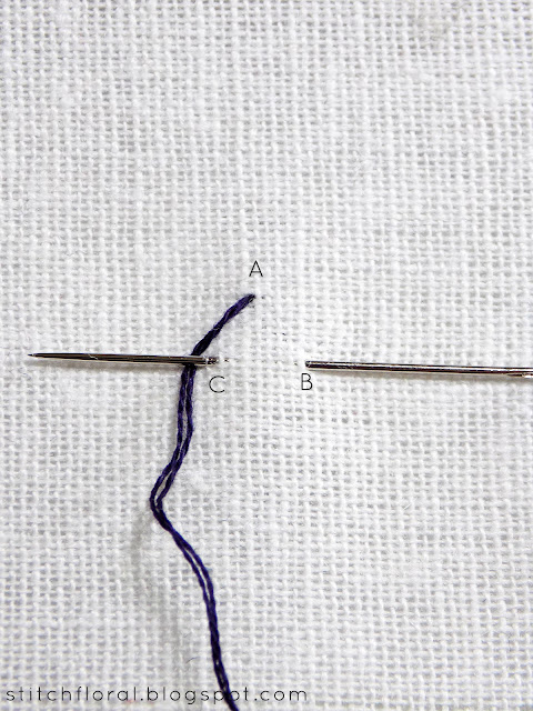 Double chain stitch tutorial