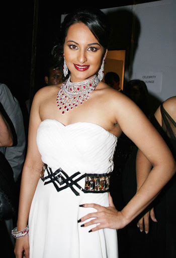 Sonakshi Sinha Hot Photos In White Dress