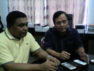 Anggota DPRD Sulut, Eddison Masegy dan Wakil Ketua APB Sulut Falman Fanta