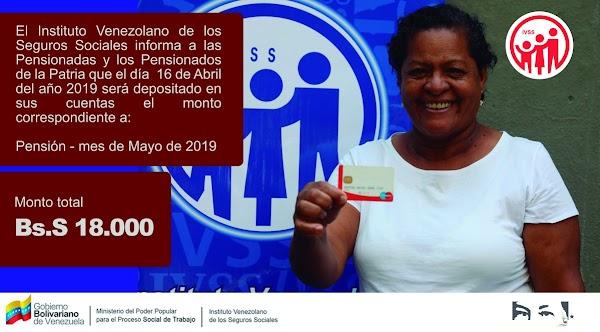 Aviso extraoficial: Fecha de Pago pensión mes de mayo 2019 (ACTUALIZADO)