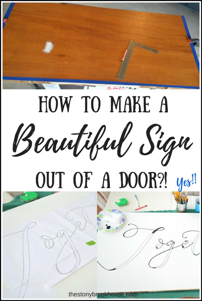 Hollow core door to beautiful sign