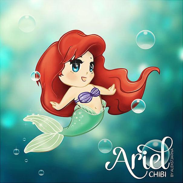 princess Ariel chibi Nàng tiên cá công chúa Ariel 5
