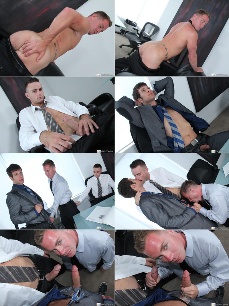 Office Cock Threesome | Executivos pauzudos em ação