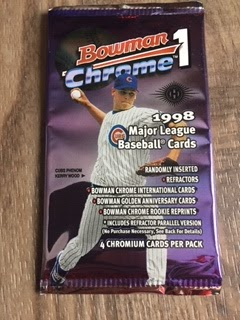 Parts Of My Past Blast From The Past1998 Bowman Chrome Baseball