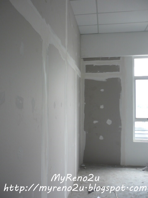 gypsum board partition gombak myreno2u