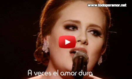 "Video y letra de Adele ""Someone Like You"""