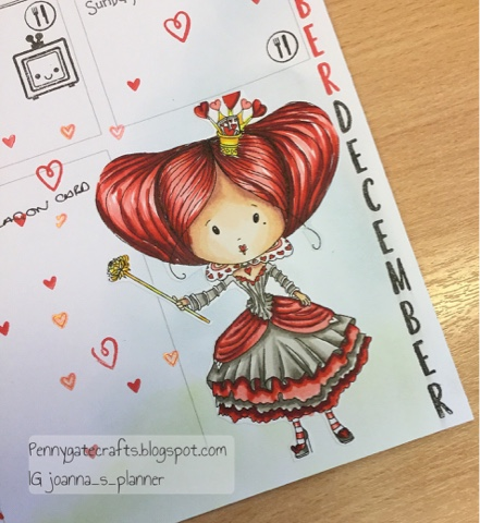 stamping-planner-queen of hearts-wonderland