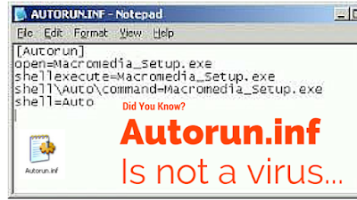 Autorun.inf is NOT a virus