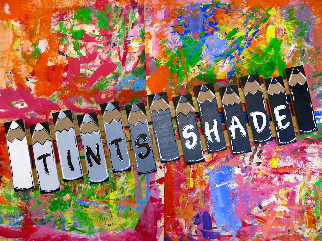 Yall Might Remember Some Time Ago I Created This Tints And Shade Sign For My Art Room Despite The Fact That It Looks Kinda Small In Size
