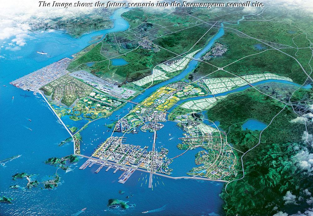 Proyecto de desarrollo del dique Saemangeum en Corea del Sur