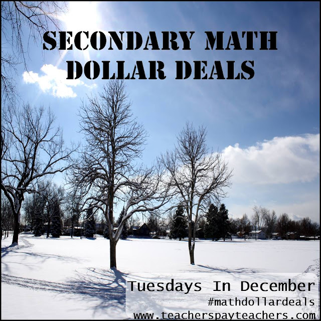 #MathDollarDeals in December