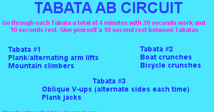 tabata style ab circuit  fit and healthy with debbie
