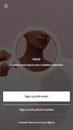 Hướng dẫn đăng ký tài khoản VSCO miễn phí