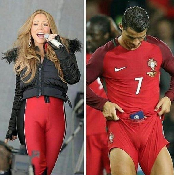 Between C Ronaldo and Mariah Carey