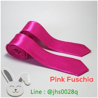 pink fuschia slim tie gelvy bunny shop