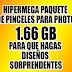 HIPERMEGA PAQUETE DE PINCELES 1.6 GB