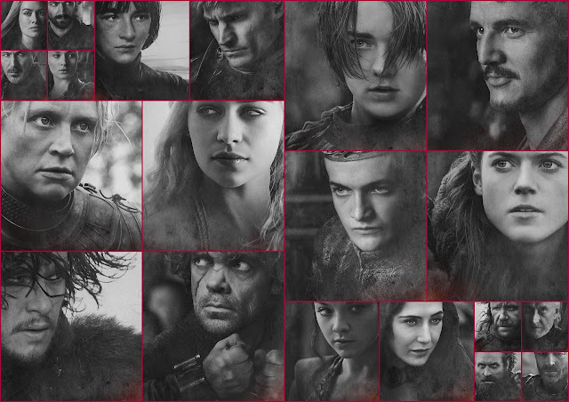 Game of Thrones: Free Printable Black and White Posters.