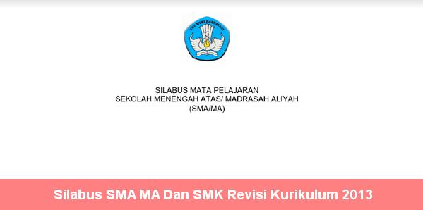 Silabus SMA MA Dan SMK Revisi Kurikulum 2013