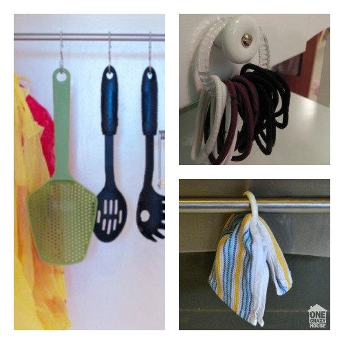 7 Ways To Reuse Shower Curtains Rings and Hooks